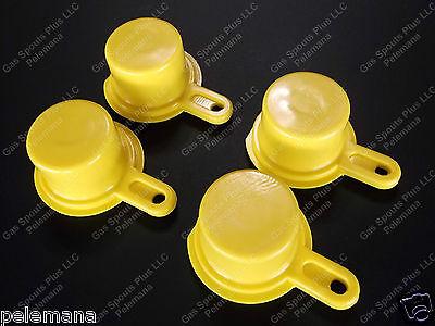 4-pk Blitz Yellow Spout Caps Mr Yellow Cap Blow Out Sale 900092 900094 900302
