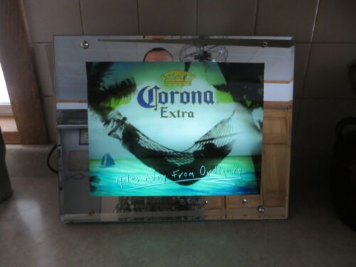 lighted Corona beer on the ocean miles away from ordinary wave sound sign