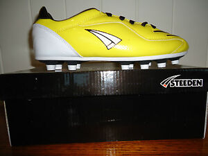 FOOTBALL SOCCER BOOTS SIZE 7 STEEDEN  ST SLICE MK111 BRAND NEW RUGBY AFL TOUCH