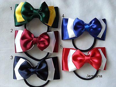 Jemlana's handmade triple layer satin ribbon hair tie for girls.. ()