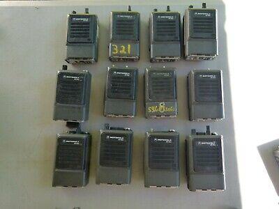 Lot Of 12 - Motorola Mt1000 Portable Handie Talkie Fm Radio Without Batteries