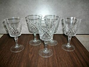 5 verres a vin rouge en cristal d arques mod le enchantement ebay. Black Bedroom Furniture Sets. Home Design Ideas