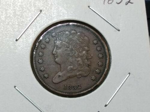 Nice Details! 1832 Classic Head US Half Cent - Low Mintage