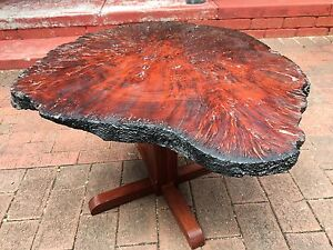 "Charcoal burnt edge Jarrah burl coffee table ""one of a kind"" Beckenham Gosnells Area Preview"