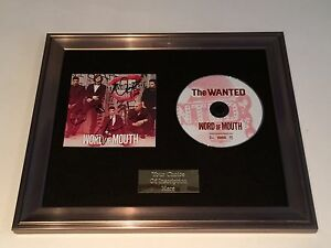 PERSONALLY SIGNED/AUTOGRAPHED THE WANTED - WORD OF MOUTH FRAMED CD PRESENTATION.