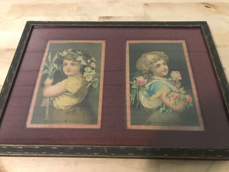 Vintage Victorian Girls Prints Framed