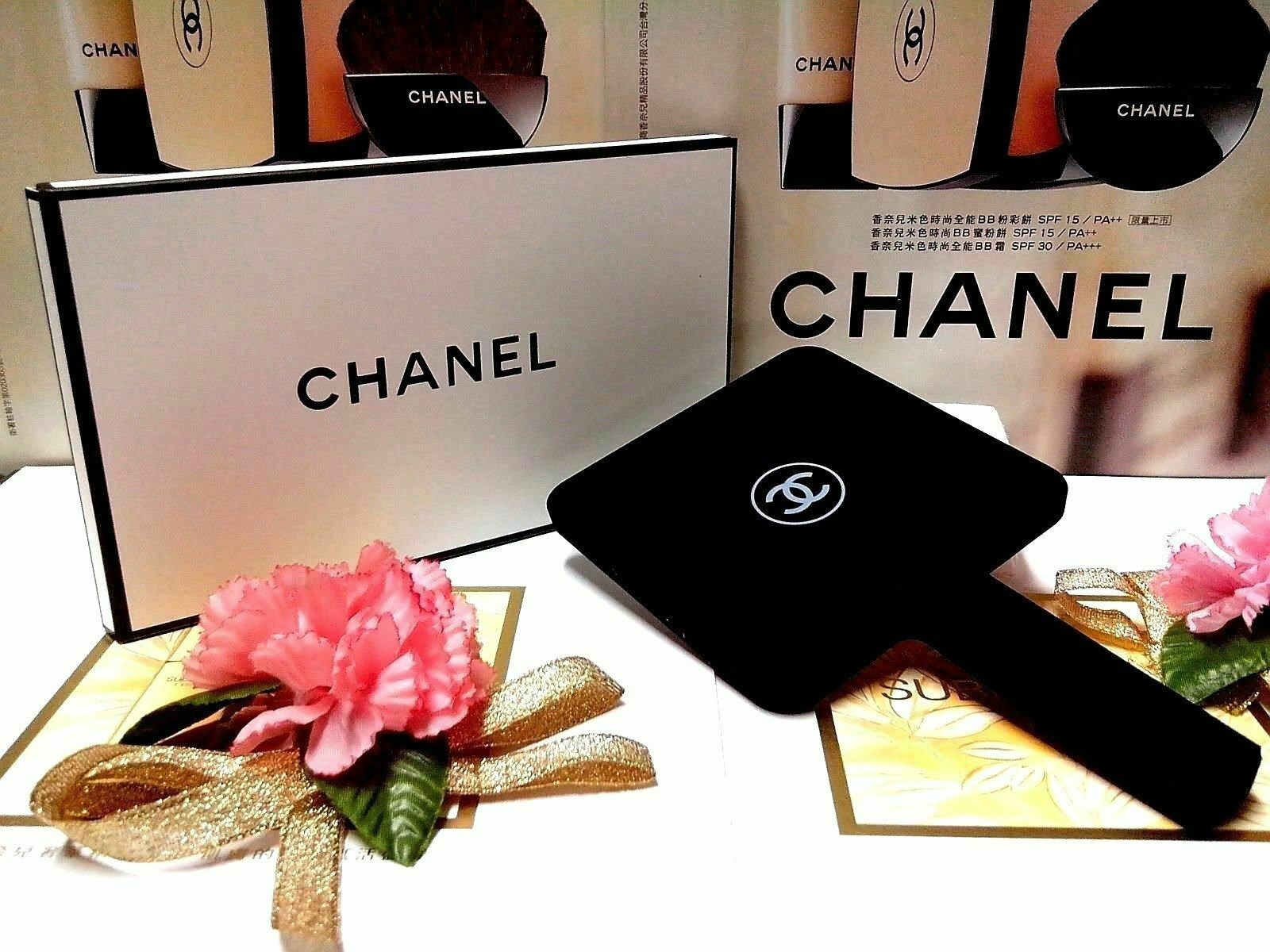"Chanel Beauty Mirror Black Matte Finish "" Large Size 22 x 12 cm "" GWP BOXED"