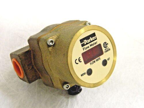 "Parker Flow Meter 1/2"" NPT 300 PSIG Bronze 10 - 30 VDC @ 80 mA PF08BNP000"