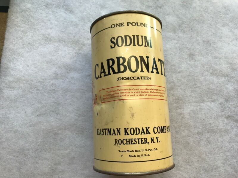 Eastman Kodak, Sodium Carbonate Vintage Tin, Rochester, N.Y.