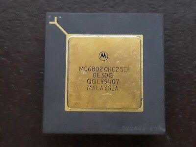 1X MOTOROLA MC6802OR25E QE30G QQLV9 VINTAGE CERAMIC CPU FOR GOLD SCRAP RECOVERY  for sale  Shipping to United States