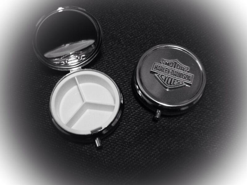Harley Davidson Bar & Shield Pin Pill Box
