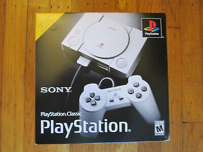 Sony Playstation PS1 CLASSIC Mini Console - 20 Built-In Games / 2 Controllers