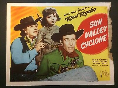 Red Ryder  Bill Elliott  Sun Valley Cyclone  Original Title Card