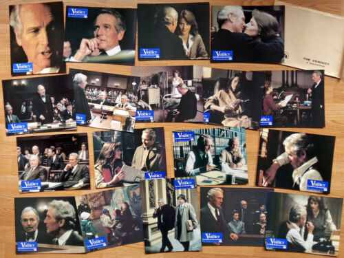 Paul Newman THE VERDICT 18 German lobby cards ! SIDNEY LUMET Charlotte Rampling