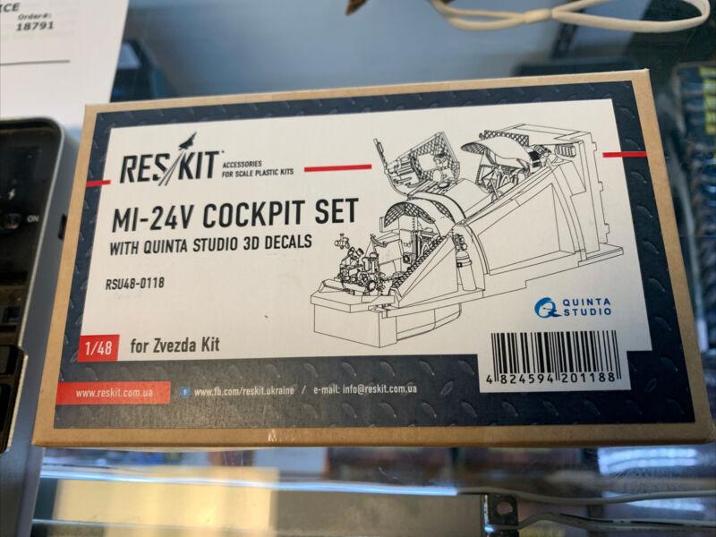 1/48 ResKit #48-0118 Mi-24V Cockpit Set for Zvezda Kit