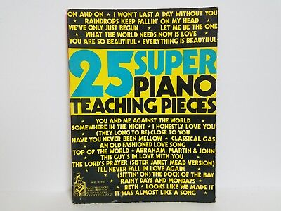 25 Super Piano Teaching Pieces Instructional Songbook Sheet Music