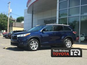 TOYOTA HIGHLANDER 2015 - XLE - AWD - GPS -  CUIR - 8 PASSAGERS