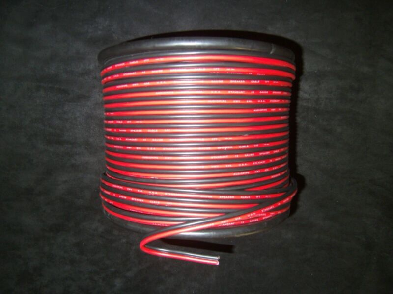 18 GAUGE 100 FT RED BLACK ZIP WIRE AWG CABLE POWER GROUND STRANDED COPPER CAR