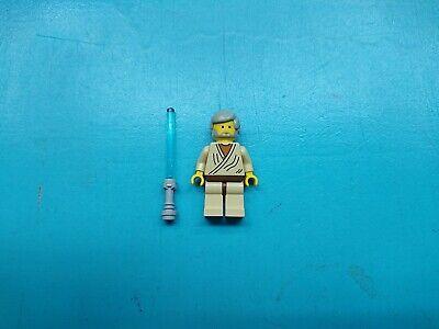 Lego Star Wars Minifigure Jedi Obi-Wan Kenobi Light Gray Hair Old 7110!