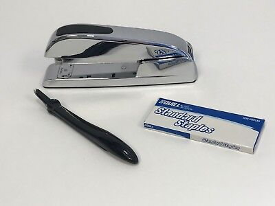 Quill Executive Chrome Standard Stapler Includes Staples And Remover 1 Each