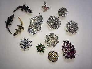 Vintage rhinestone brooches pins $100obo