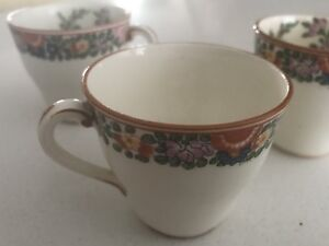 Set of 3 hand painted espresso cups.
