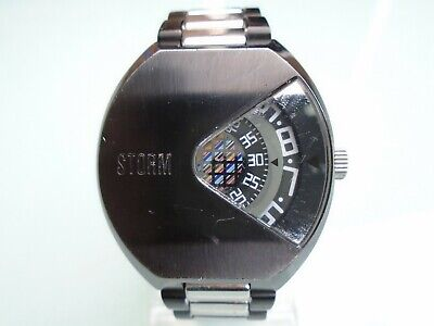 Storm Vadar Slate Special Edition Watch direct read jump hour LIFETIME BATTERY.