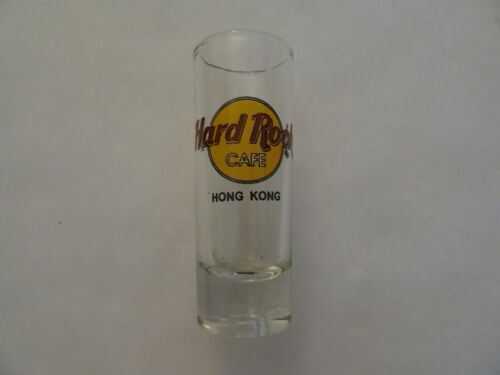 Hard Rock Cafe shot Glass Hong Kong Classic Logo double black circle