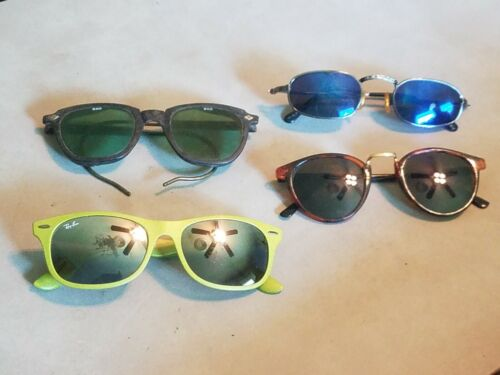Vintage Sunglasses Ray Ban Sellstrom Safety, Iquana Lot of 4