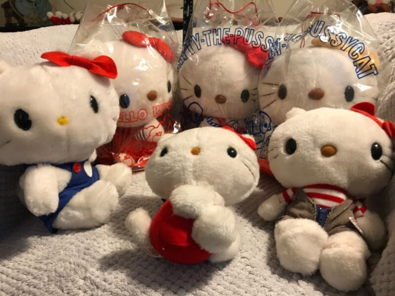 Rare 1976 Vintage Sanrio Hello Kitty Plush Lot of 5+ Musical Twinkle Little Star