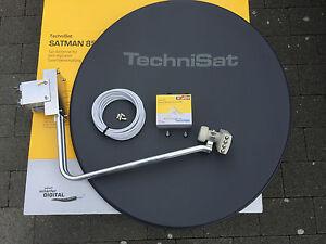 TechniSat Satman850Plus mit TechniSat Quatro-Switch-LNB (4Teilnehmer) grau neu