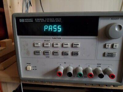 Hp Agilent E3631a Triple Output Dc Power Supply 6v 5a -25v 1a