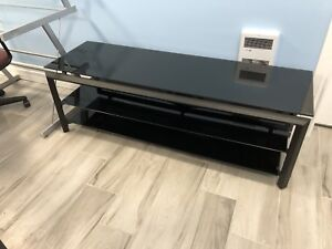 60 inch glass tv stand