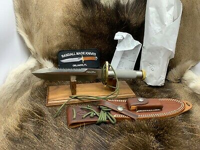 Randall 18 Model Survival Knife With Stainless Handles & Sheath Mint In Paper+++