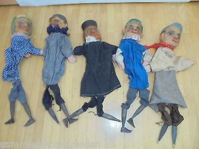 25771 5 KasperlePuppen HOLZ  judy and punch puppet Kasperle 1920  Kasperpuppen