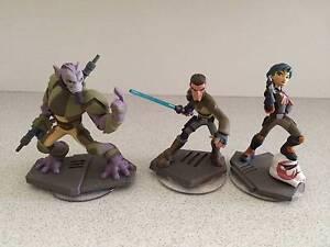 STAR WARS REBELS Disney Infinity 3.0 Figures (Kanan Sabine Zeb) Nundah Brisbane North East Preview