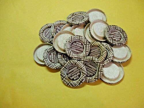EMMONS DAIRY BIG RAPIDS, MICHIGAN CHOCOLATE MILK BOTTLE BOTTLE CAPS NOS 20 CAPS