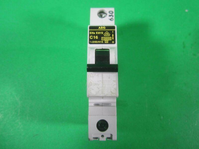 AEG Circuit Breaker -- Elfa E81S C16 -- Used