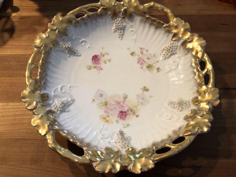 Royal Saxe Germany Porcelain Serving Bowl
