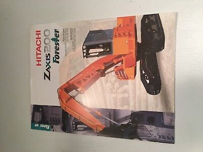 Hitachi Zaxis 200 Forester Hydraulic Excavator Sales Brochure Specifications.