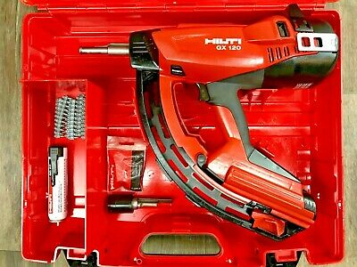 Hilti Gx-120 Complete Kit Gas Actuated Fully Automatic Fastener Nail Gun 3 Case