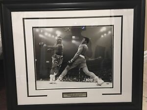 "Muhammad Ali vs Joe Frazier the ""Lunge"" Autographed"