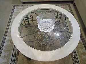 Marble Wrought Iron tables Little Bay Eastern Suburbs Preview