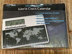 World Clock/Calendar Mitaka-Japan