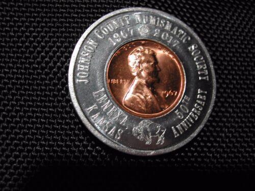 Encased Cent - 1967 BU RED