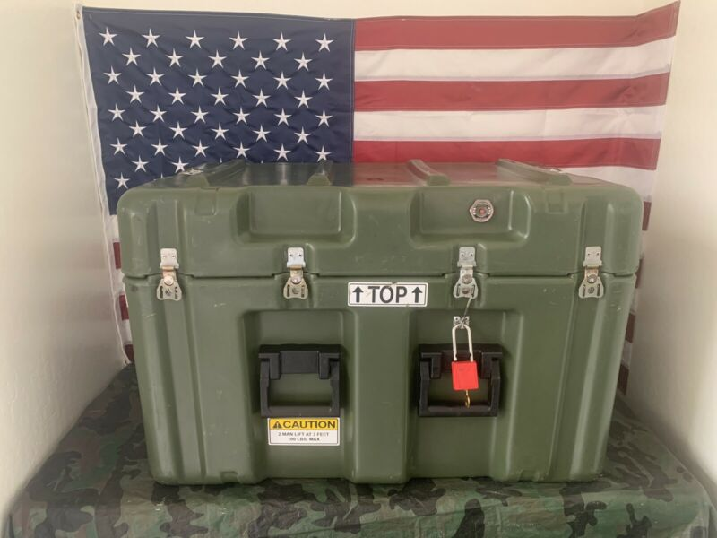 Pelican Hardigg Weather tight Military Footlocker Transport Case