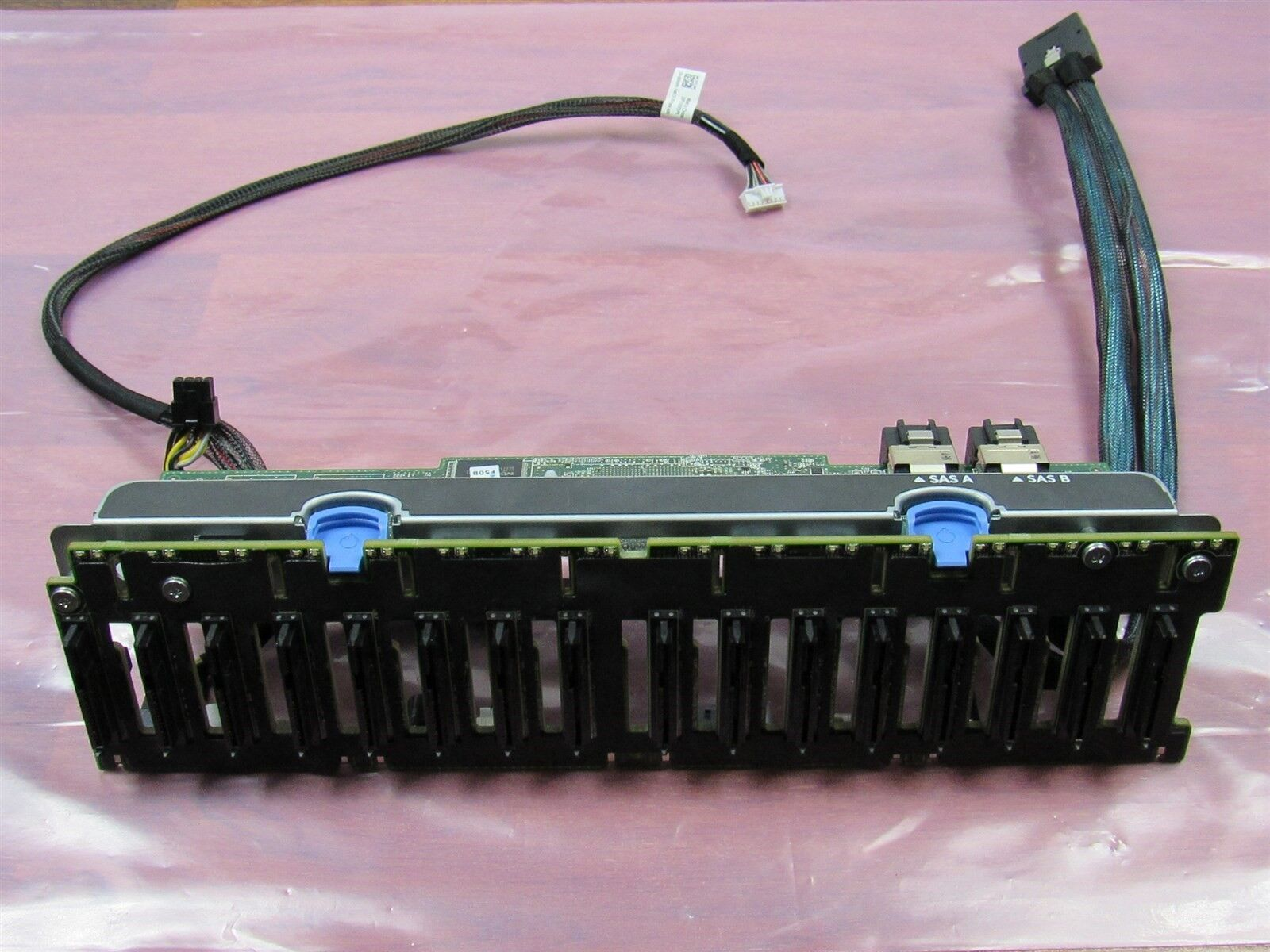 "Dell J2C2D PowerEdge R720 R820 2.5/"" SAS Backplane w// Genuine Cables TRPH0"