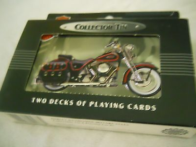 1998 Harley Davidson Collector Tin and Playing Cards New