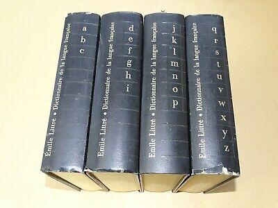 *** emile littré _ dictionnaire de la langue française - 4 tomes *** 1974