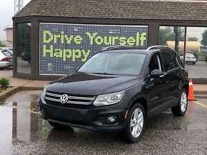 2015 Volkswagen Tiguan Comfortline/ PANO-ROOF/NAVIGATION/LEATHER